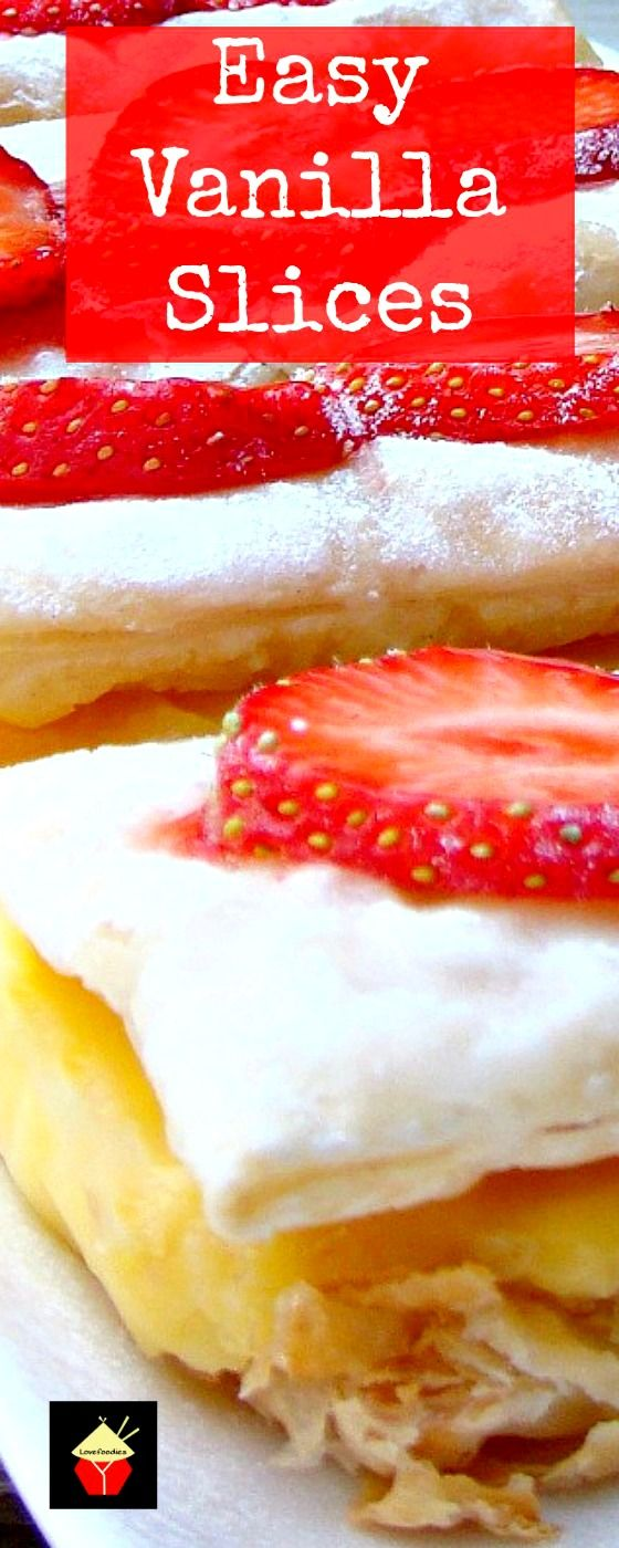 Easy Vanilla Slices. A nice chilled treat perfect for any occasion.