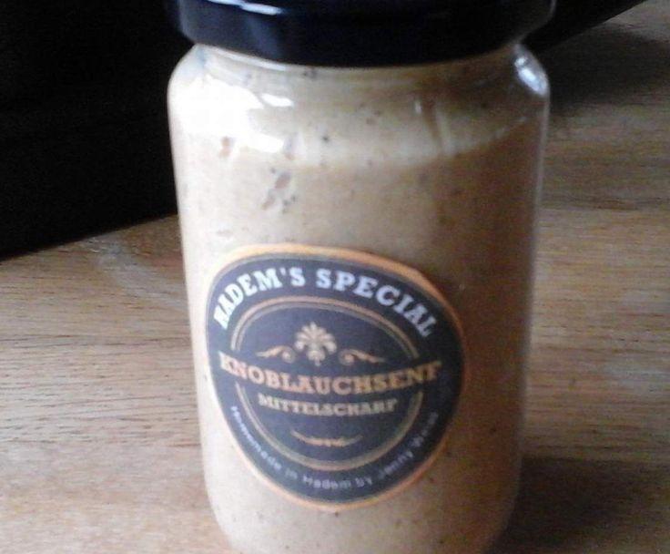 Rezept Knoblauchsenf, mittelscharf von Hademer Landfee - Rezept der Kategorie Saucen/Dips/Brotaufstriche