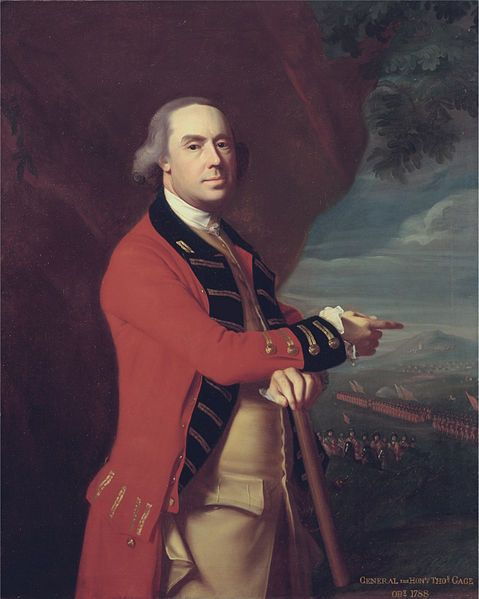 """General the Honorable Thomas Gage"" (John Singleton Copley, 1788, oil on canvas). In the Yale Center for British Art, Paul Mellon Collection, New Haven, CT. The unfortunate Gage was the Commander in Chief of British Forces in North America between 1763 and 1775. Distinguished career in the Seven Years War. Chiefly remembered for his involvement in the early period off the American Revolution (as commander and Gov. of Mass.) where he was given both impossible instructions and inadequate…"