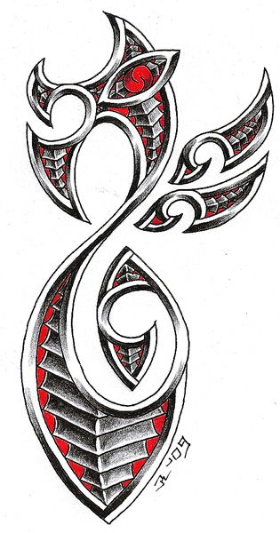 maori dragon by roblfc1892 on DeviantArt