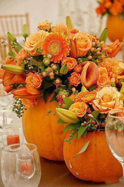 Beautiful Pumpkin Centerpieces