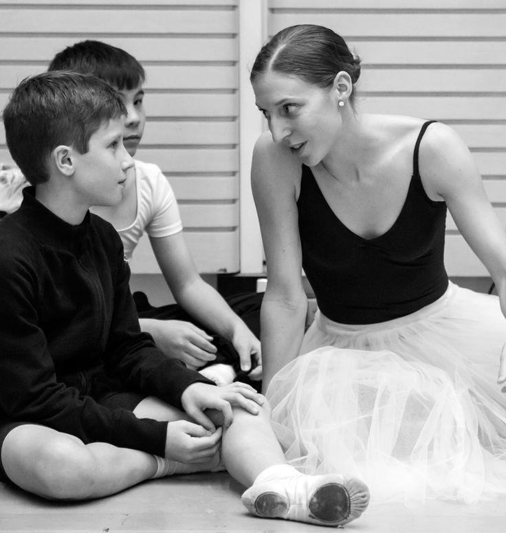 Ben (front), James (behind) and Lana Jones. Ben and James are ITP student of The Australian Ballet School rehearsing with The Australian Ballet.