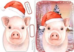 Festive Pig on Craftsuprint - View Now!