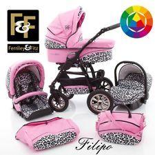 Ferriley & Fitz Filipo kunstleer kinderwagen + autostoel wandelwagen kinderwagen - OP VOORRAAD