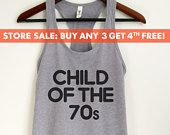 Child Of The 70s Tank Top, Funny ladies tank top, Ladies Workout Tank Top, Gym Tank Top, Yoga Tank