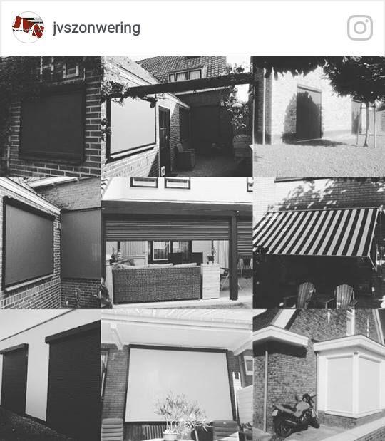 Laaste projecten. #rolluiken #screen #zipscreen #ritsscreen #veranda #zonnescherm #knikarmscherm #horren #rolgordijnen #binnenzonwering #kozijnen #rolpoorten #garagedeuren