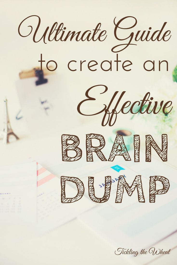 Doing a brain dump can help you be more productive and focused. Here's how and why to create your own brain dump.