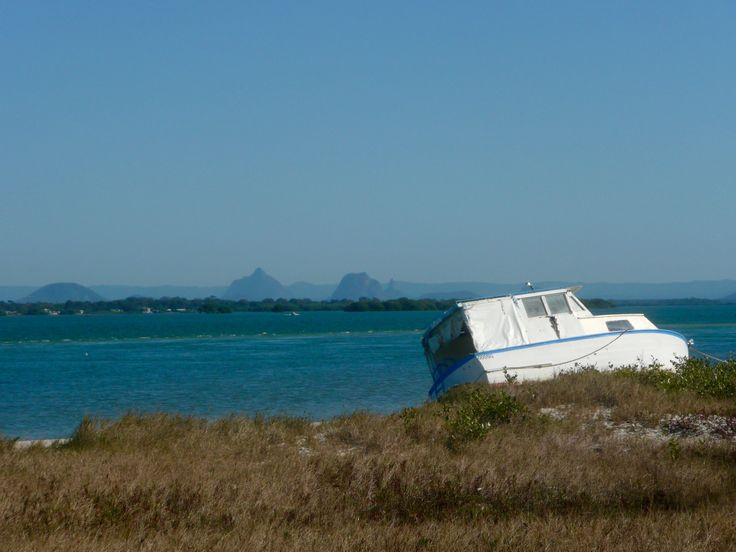 Glass House Mountain Views from Bribie Island.