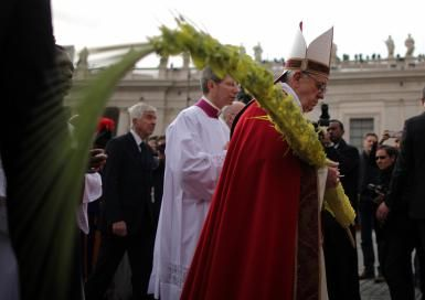 Palm Sunday commemorates the triumphal entrance of Christ into Jerusalem (Matthew 21:1-9), when palm branches were placed in His path, before His arrest on Holy Thursday and His Crucifixion on Good Friday. It thus marks the beginning of Holy Week, the final week of Lent, and the week in which Christians celebrate the mystery of their salvation through Christ's Death and His Resurrection on Easter Sunday.