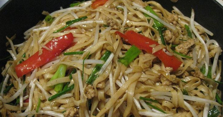 Stir fry Dried Wheat Noodle You need to find dried Mi Chay brand noodle sell at the Asian grocery store. 4 small bundle of Mi Chay dri...