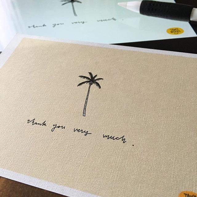メッセージカード。 . . @koe_official さんでのワークショップ(2/25)、詳細は明日リリースさせていただきますので!もうしばらくお待ちください。#ipadpro#applepencil#procreat#palmtree#cardmaking#イラスト#レタリング#ヤシの木#メッセージカード