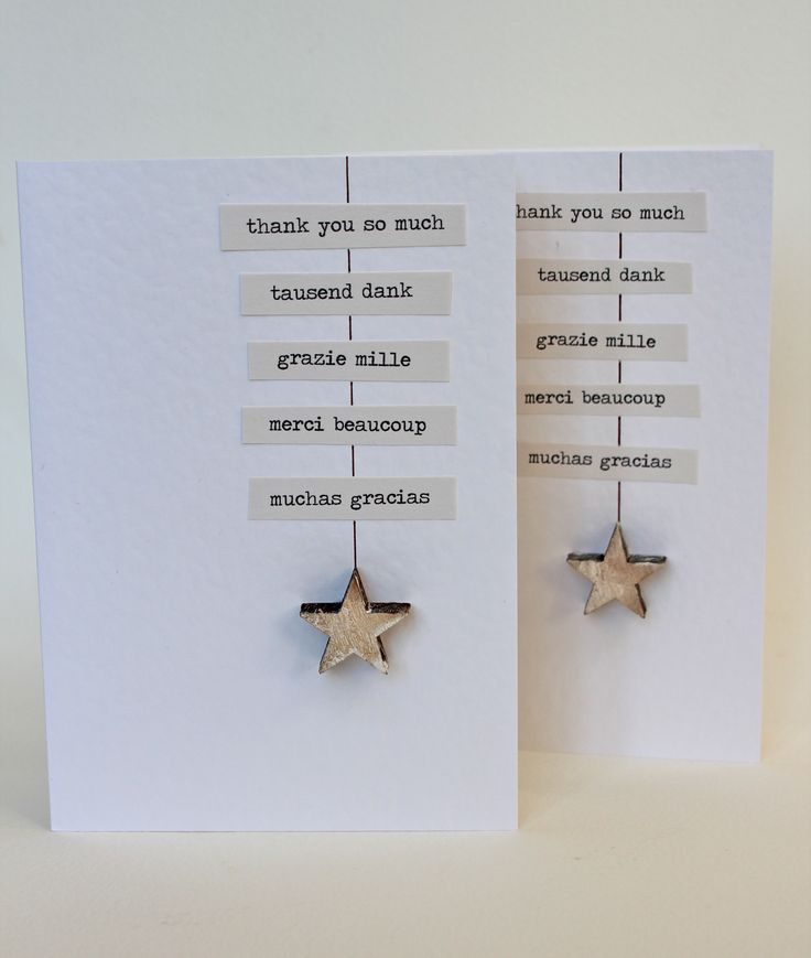 Homemade thank you cards - love the simplicity and if I get the little people to help make them it will help their language skills a little may be ?