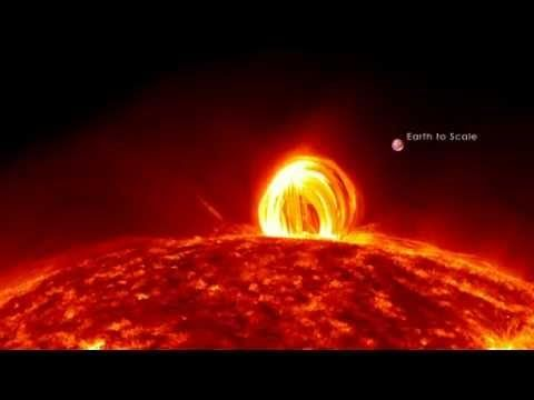 Imagens do sol Explosões Solares filmadas pela nasa ,muito curioso isto