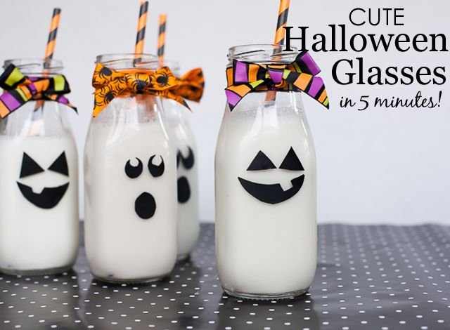 diy halloween glasses takes 5 minutes perfect party favor for your halloween party - Haloween Party Ideas