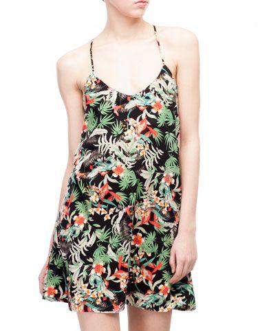 Vestito stampato tropicale 27.95