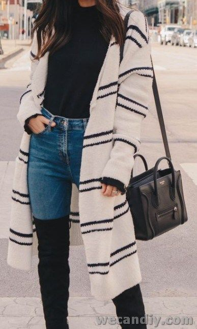 25 Best Women Winter Casual Outfits With Cardigan | WeCanDIY