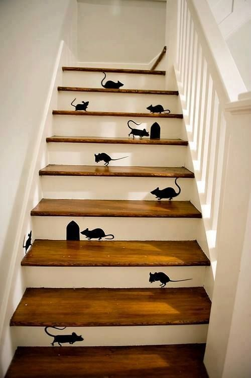 crowded stair