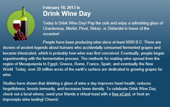 Today is National Drink Wine Day! Enjoy a glass in Ariccia!
