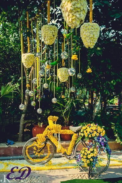 Cycle graced with flowers