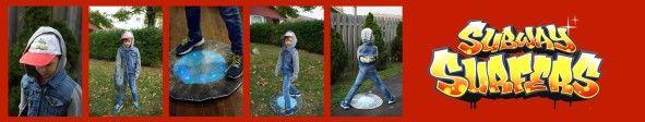 Jake Subway Surfers Halloween costume DIY. Fast and easy boys halloween costume. Game  character Halloween costume