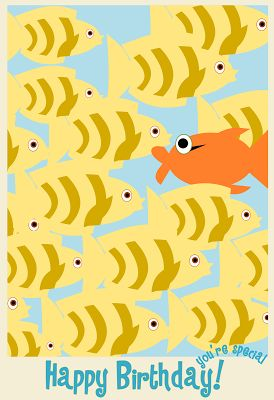 MeinLilaPark – DIY printables and downloads: free printable happy birthday card with fishes– au...