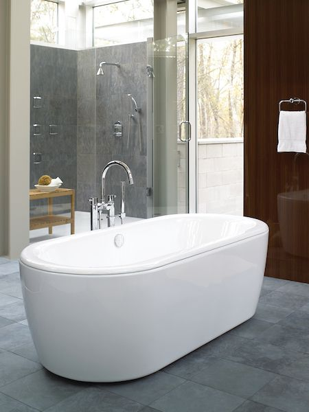 A Toto Freestanding Tub Is The Perfect Addition To Create Spa Like Retreat In Your Home Bathroom Bathroomreno Bathrooals Interiordesign Baths