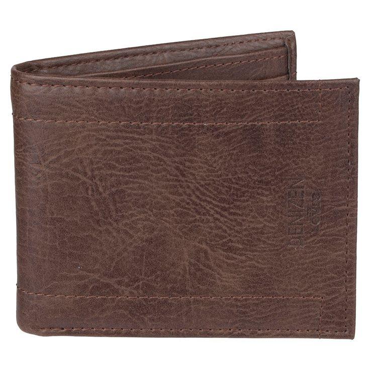Denizen from Levi's Men's Frame Stitch Passcase Rfid Wallet - Brown