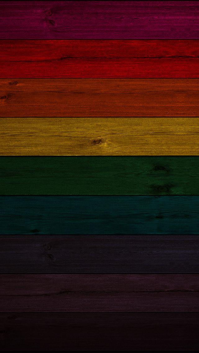 Rainbow Wood iPhone Wallpaper