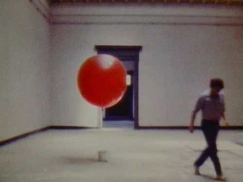 Balloon Bucket Roman Signer (Swiss, born 1938) 1982. Super 8 film transferred to video (color, silent). #romansigner #balloon #red: Bucket Roman, Romansigner Balloon, Red Balloons, Balloon Bucket, Hello Balloons