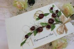 ręcznie robione zaproszenia ślubne 5