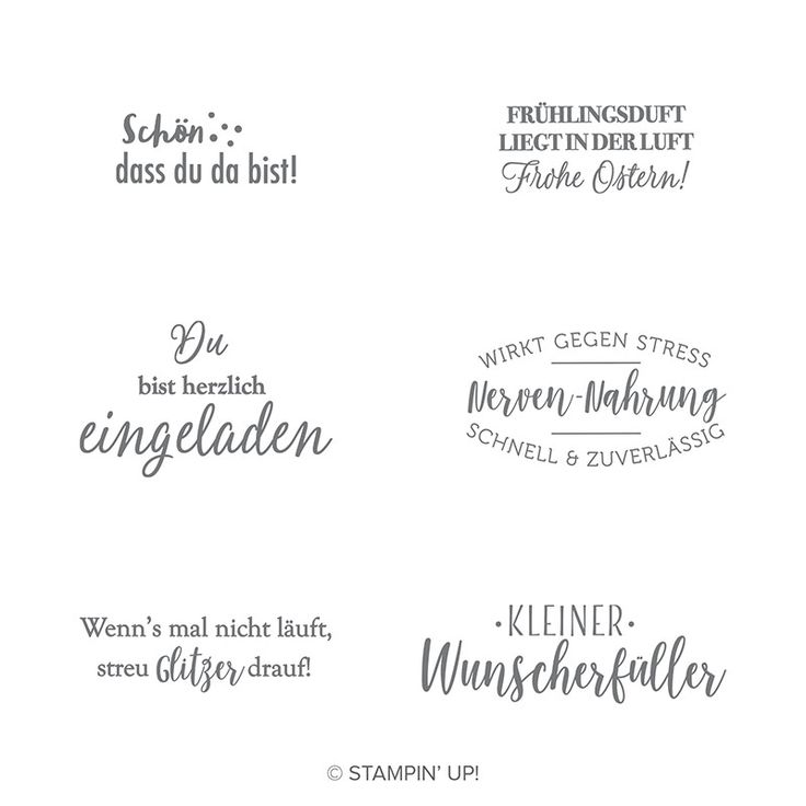 Kleiner Wunscherf 252 Ller Cling Stamp Set German Kleiner