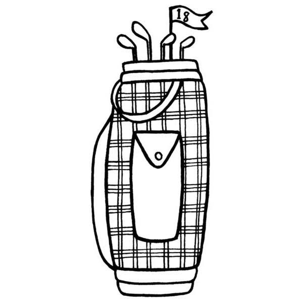 golf bag coloring page - 17 best images about coloring golf on pinterest golf art