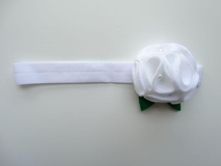 Opaska kwiat chrzciny komunia Milori w Milori na DaWanda.com