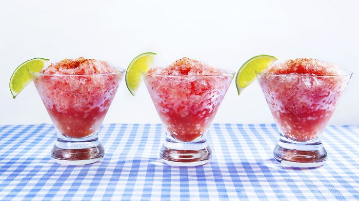 """Keep your barbecue guests cool with this frosty recipe from Mike's Hard Lemonade and """"Man v. Food"""" star Adam Richman. It's sweet, cold and packs a kick with tequila and a dusting of chili powder."""
