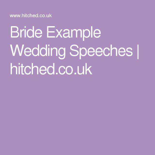 Top 25 Ideas About Bride Speech On Pinterest