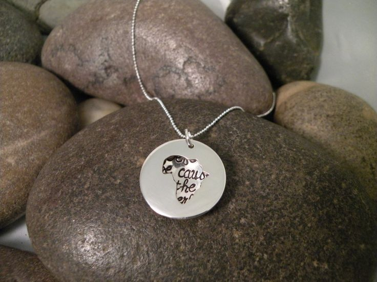 Custom Hand Stamped Sterling Silver AFRICA Locket Necklace ...