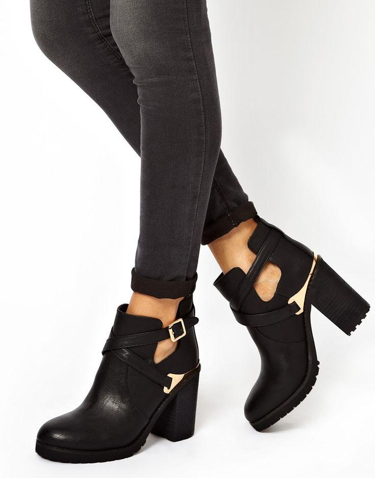 Miss KG – Bonjour – Stiefel mit Absatz und Zierausschnitten