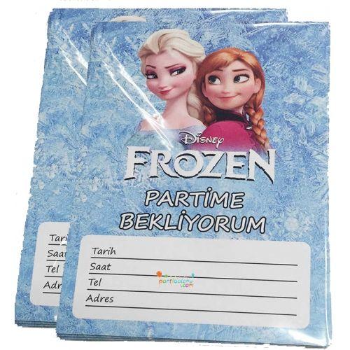 Frozen Davetiye Elsa Davetiye Ürün Özellikleri  Ürün Paketinde 10 Adet Frozen Davetiye bulunur. Karton Karlar Ülkesi Davetiyeler Kaliteli baskı ve canlı çizimdir. Elsa temalı davetiyelerin boyutu 9,5 cm ve 14,5 cm'dir. Frozen davetiyeleri zarfsız gönderilir. Çocuklarınızın doğum günü partilerine arkadaşlarını davet etmek istiyorsanız bu ürünü tavsiye ediyoruz.