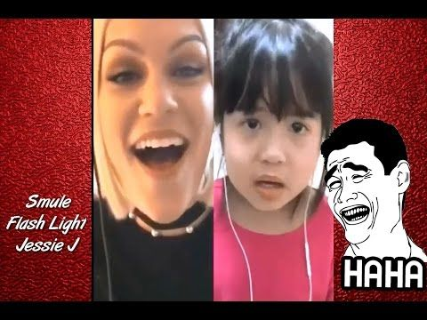 LUCU !! Smule Jessie J Flash Light Terbaru Super Funny Sing Karaoke