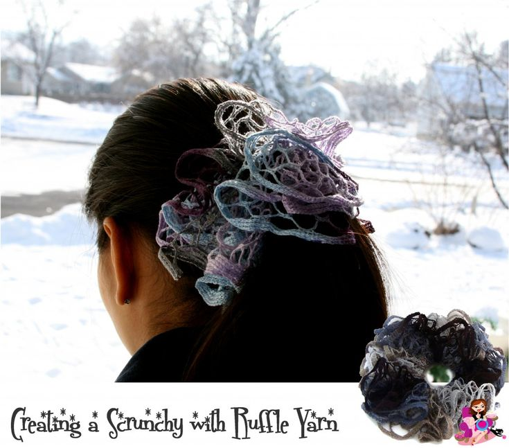 Creating Hair Scrunchies with Left Over Ruffle Yarn « Knitting Board Chat