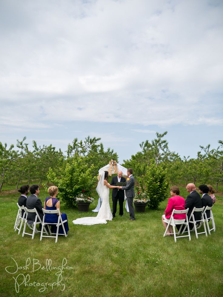 Gorgeous Intimate Niagara Ceremony at Orchard Croft Boutique.  #JoshBellinghamPhotography