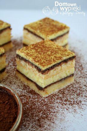 pieczony sernik na biszkopcie z polewą czeko