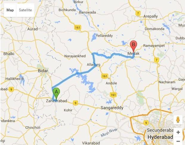 zaheerabad to medak distance By Road, Distance Between zaheerabad and medak , Distance By Road From zaheerabad telangana and medak.