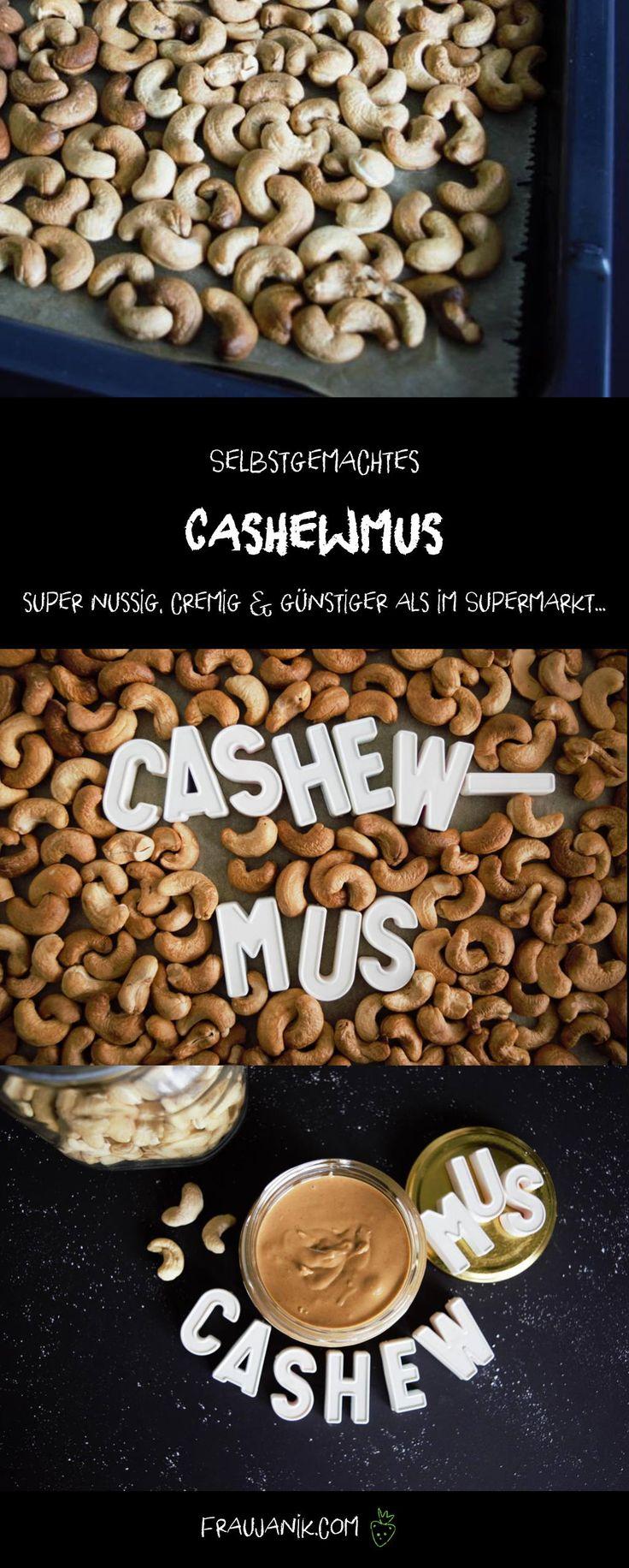 super nussig, cremig & günstiger als im Supermarkt... Wofür du das Cashewmus verwenden kannst? Liest du auf meinem Blog! :-)