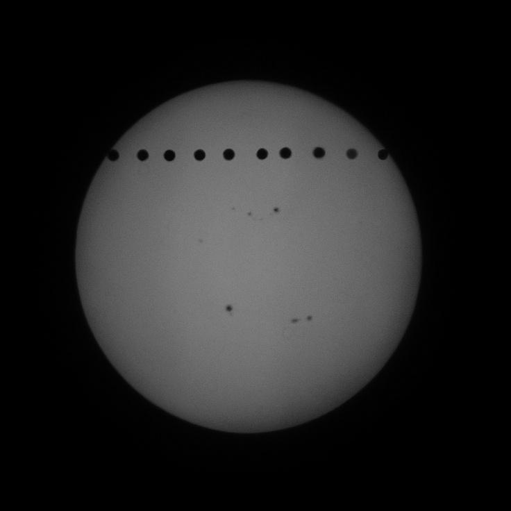 金星太陽面通過全行程