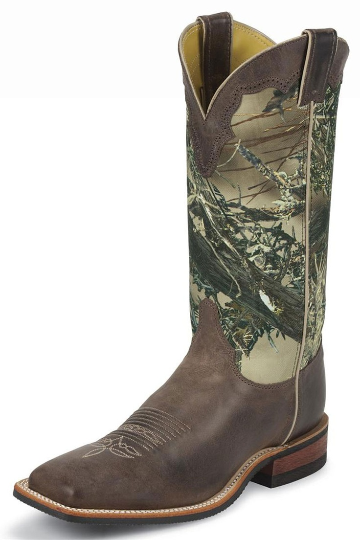 Justin Bent Rail Camo Cowboy Boots they might be boys but still....