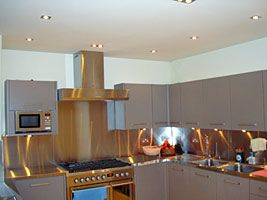 10mm thick, 9mm MDF Splashback - all edges wrapped
