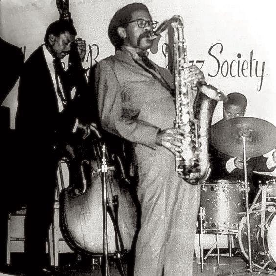 Joe Henderson, Paul Chambers and Jimmy Cobb [Wynton Kelly Trio] at the Left Bank Jazz Society, 1968