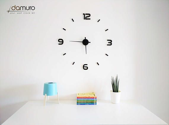 Modern  damuro your wall clock kit. Grande orologio da
