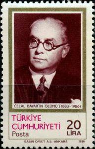 Celal Bayar, 3rd President (1883-1986) 1986